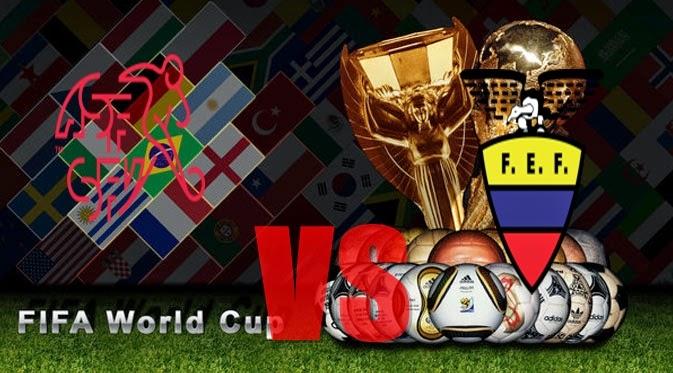 Prediksi Skor PIALA DUNIA  Paling Jitu Swiss vs Ekuador  Jadwal 15 Juni 2014
