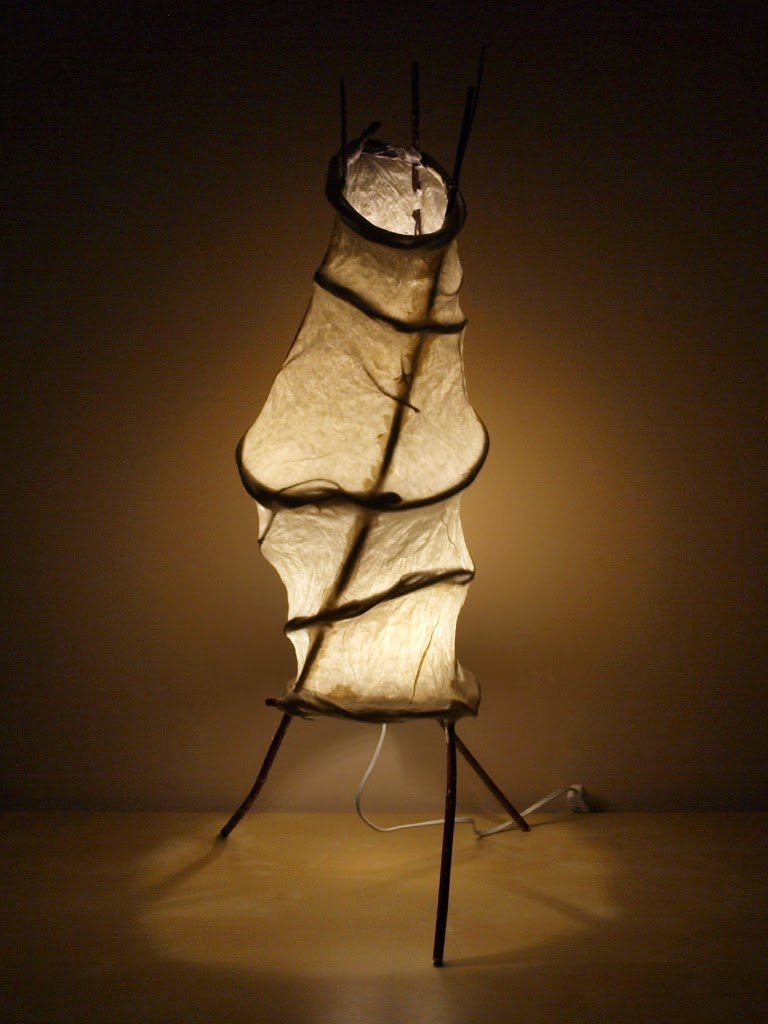 Creeping - handmade light sculpture art lamp by Simcoe artist Joanne Rich