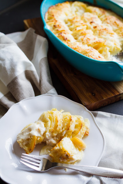 Such a perfect Scalloped Potato recipe for all those holiday meals!     My Name Is Snickerdoodle