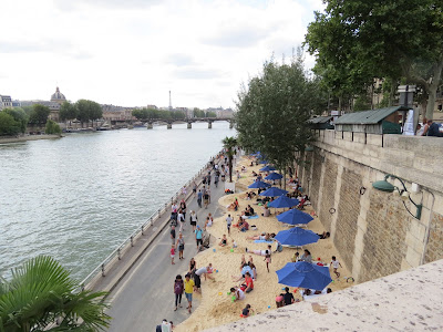 Seine Beach, Paris, France www.thebrighterwriter.blogspot.com