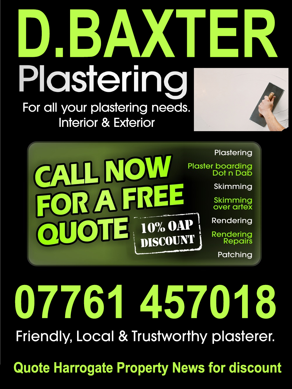 Need A Plasterer ?