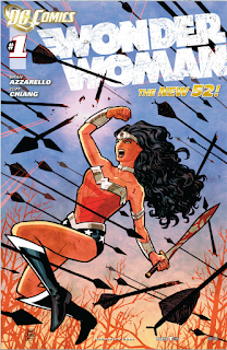 Cover A of Wonder Woman #1 from the New 52 (2011) featuring the art of Cliff Chiang