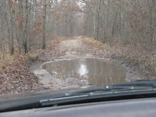 large mud puddle