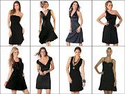 Um vestido preto pode ser . (vestido preto )