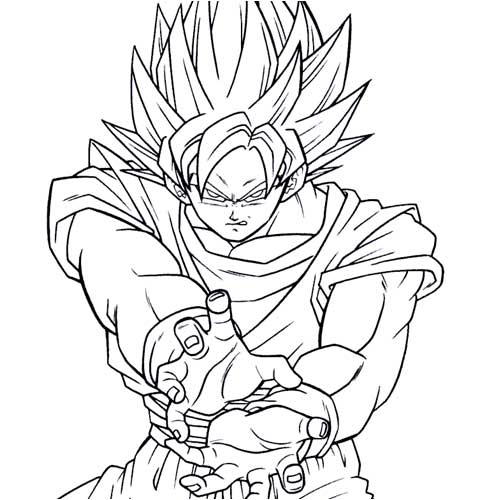 Goku+dragon+ball+coloring+ ...