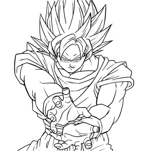 goku dragon ball coloring pages