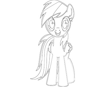 #7 Rainbow Dash Coloring Page