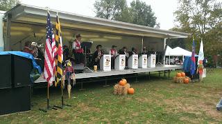 band playing at a maryland oktoberfest