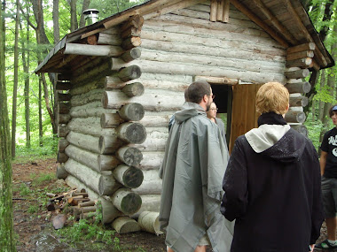 Log Cabin built by students...