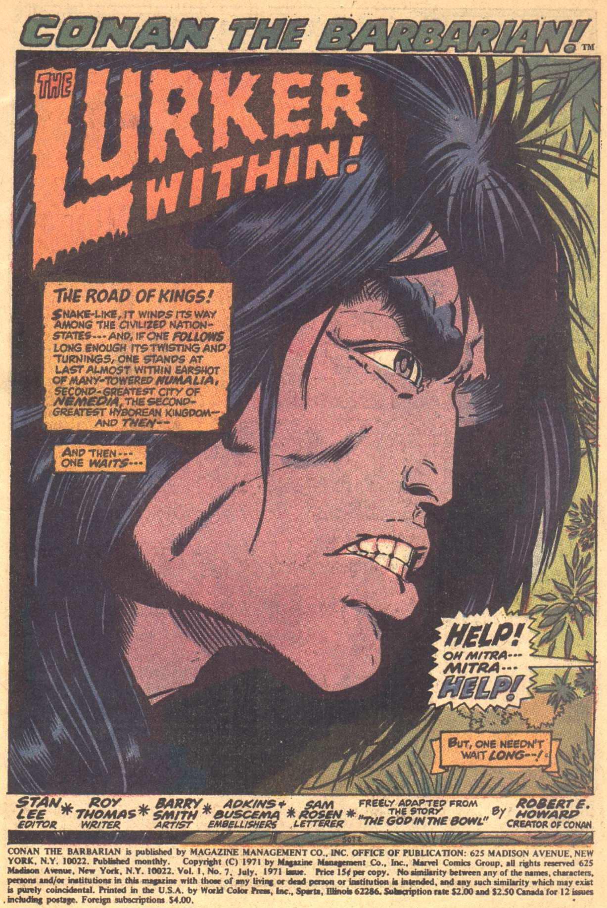 Conan the Barbarian (1970) Issue #7 #19 - English 2