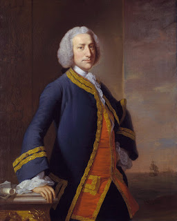 George Anson, 1st Baron Anson, portrait by an unknown contemporary artist