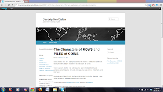 A screenshot of Dylan's blog