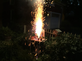 Newly Available Fireworks Seen at a. South side Home