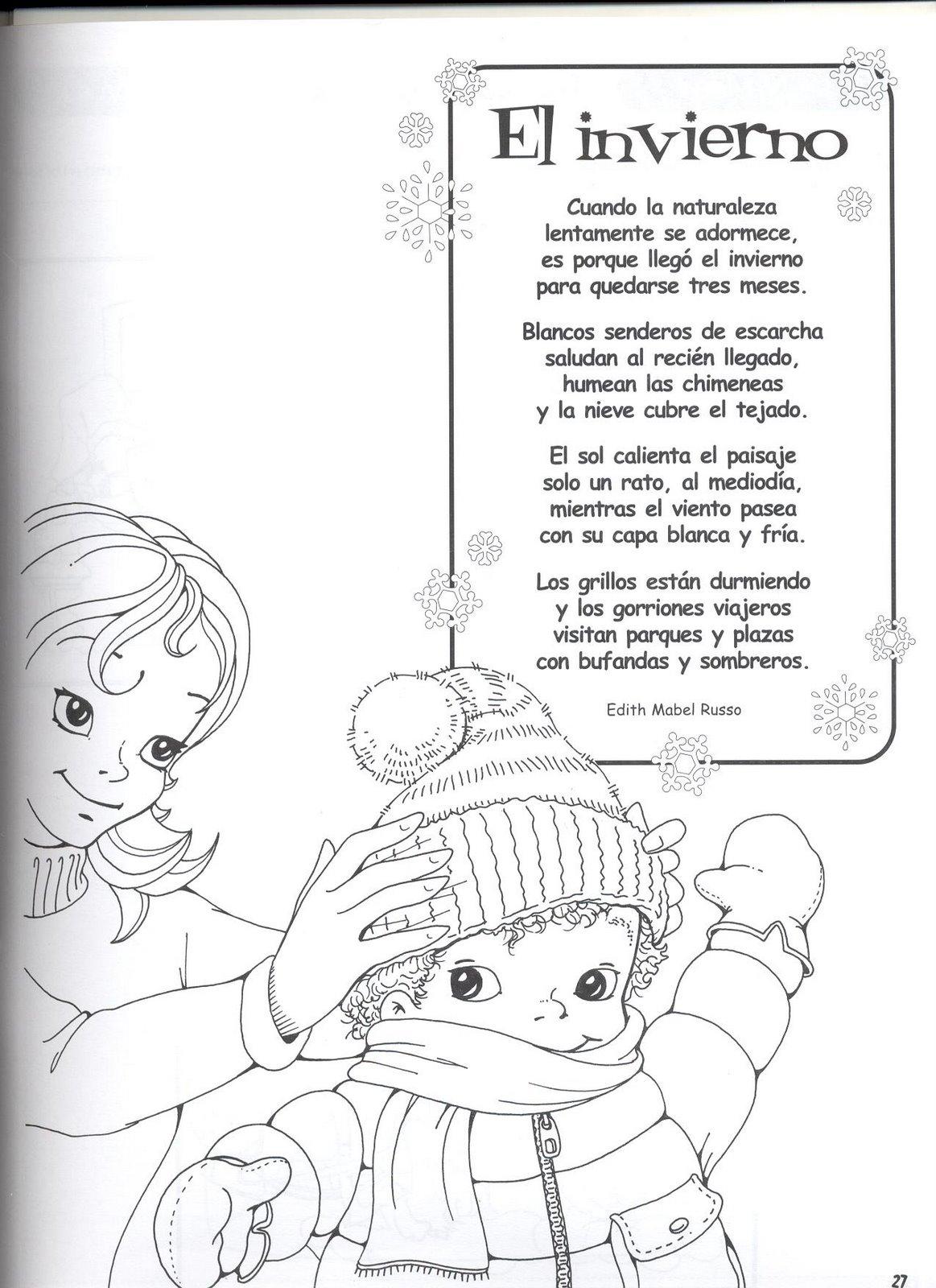 fichas infantiles poema del invierno