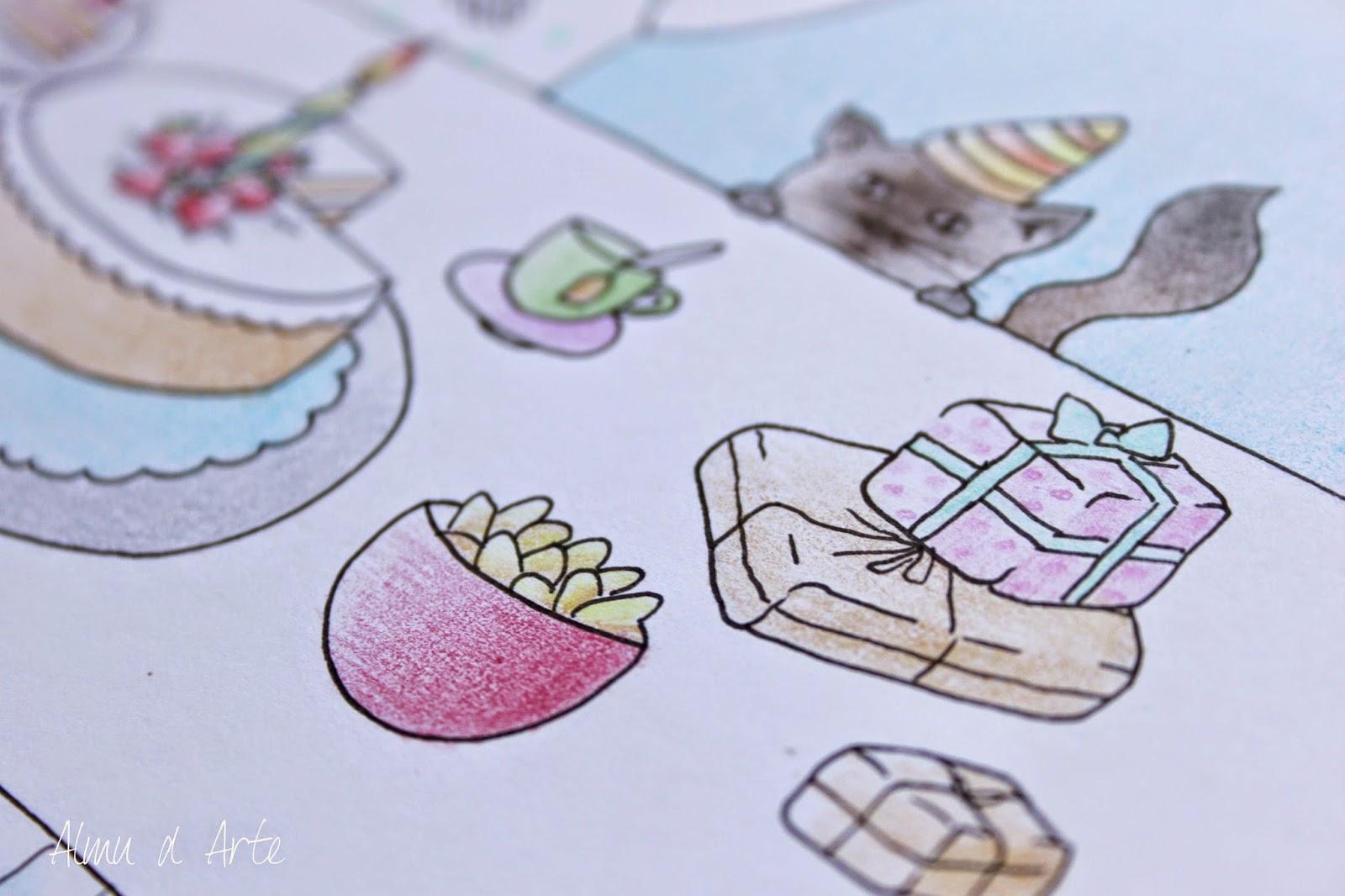 Ilustración con lápices de colores