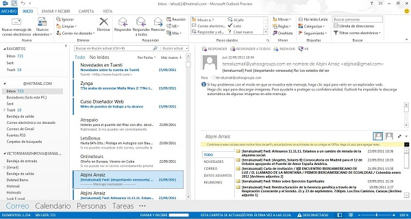 outlook 2013 image 02 Outlook, how to sync your Gmail with Outlook 2013