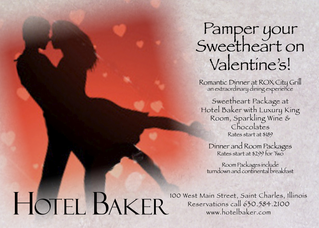 valentines at hotel baker and rox city grill - Valentine Day Hotel Specials