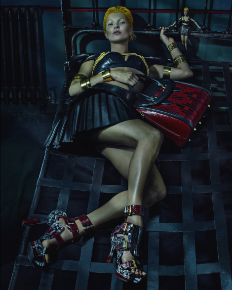 Kate Moss for Alexander McQueen SS14 Campaign by Steven Klein