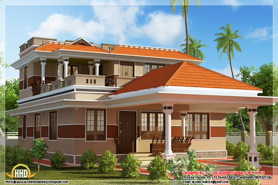 1700 square feet, 3 bhk Kerala style home design