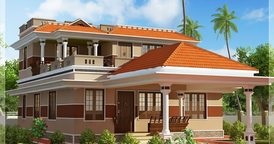 3 bedroom 1700 square feet kerala house design indian - Casas de diseno ...