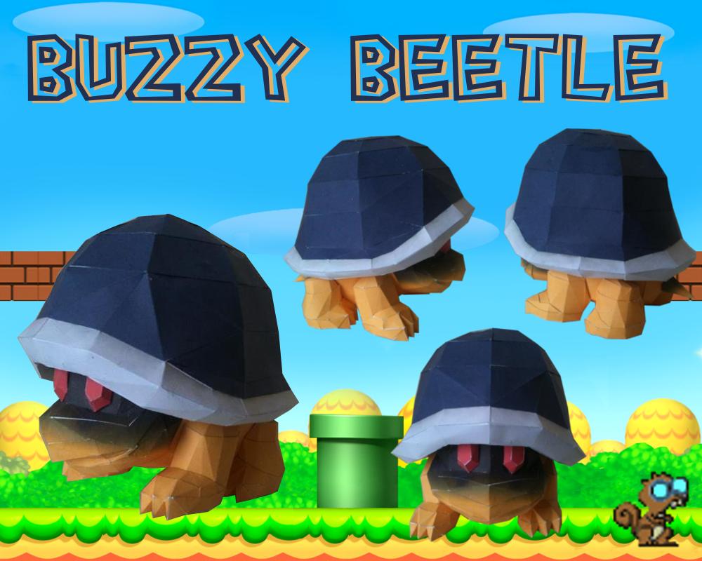 Buzzy Beetle Papercraft