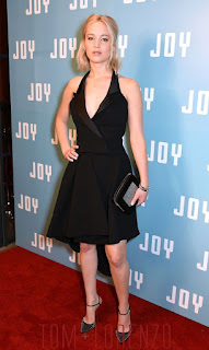 Jennifer Lawrence Sexy in Dior Black Couture Dress