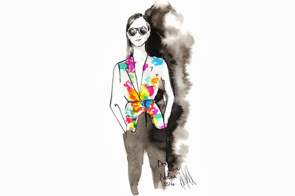 paris, fashion, pfw, catwalk, illustrations, art, drawing, models, Undercover, Gareth Pugh, Dries Van Noten, ss14, blogger,