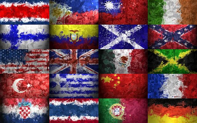Banderas Pintadas del Mundo