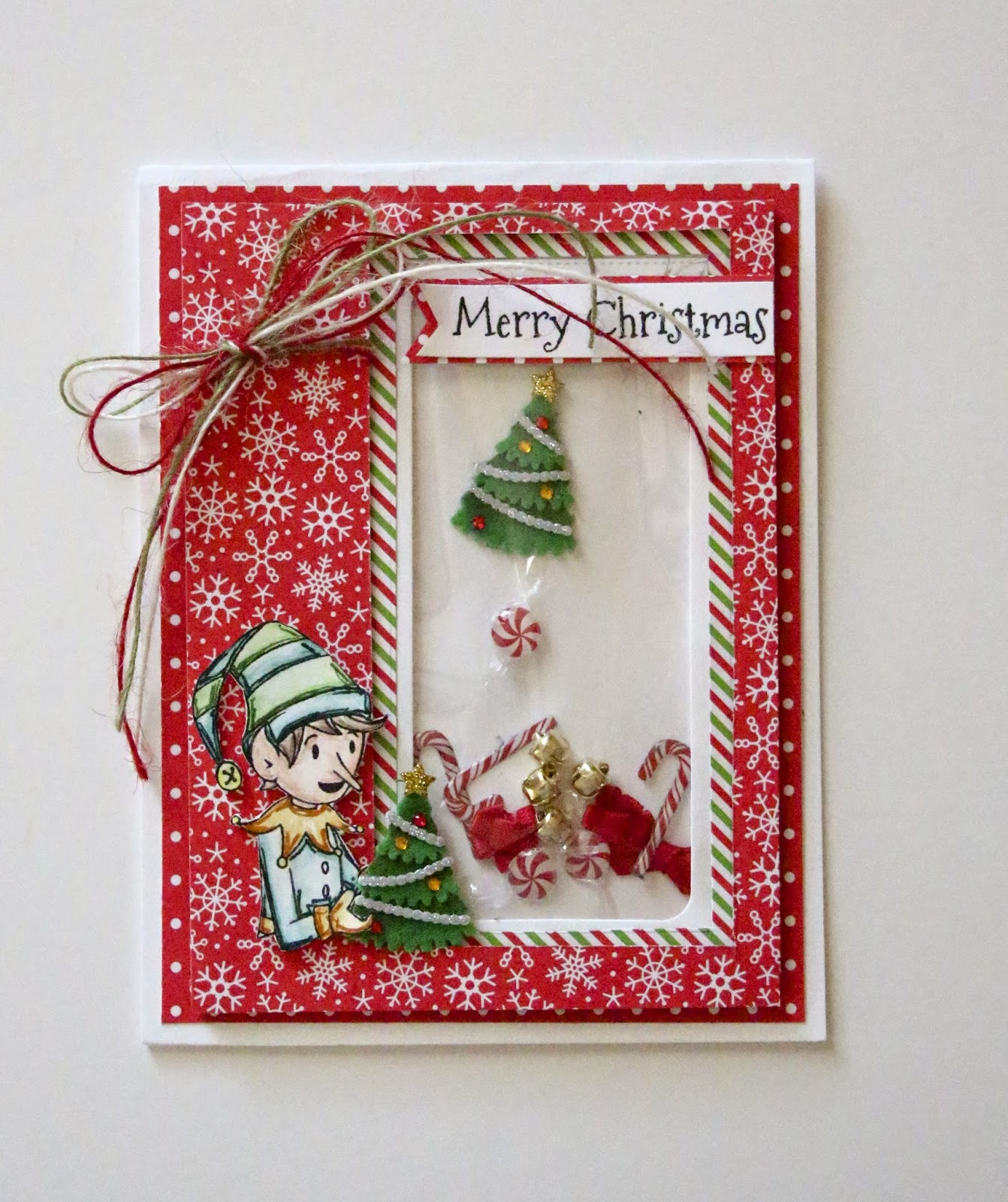 the rubber cafe design team blog: merry christmas shaker card