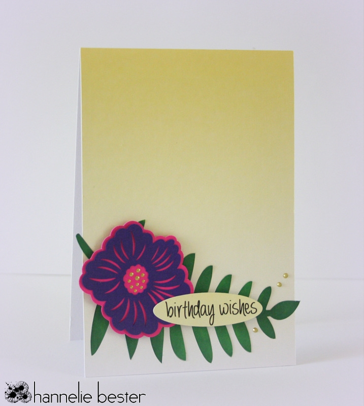Botanical inspired birthday card