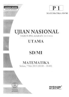 Latihan Soal US SD 2016 Matematika, IPA dan Bahasa Indonesia