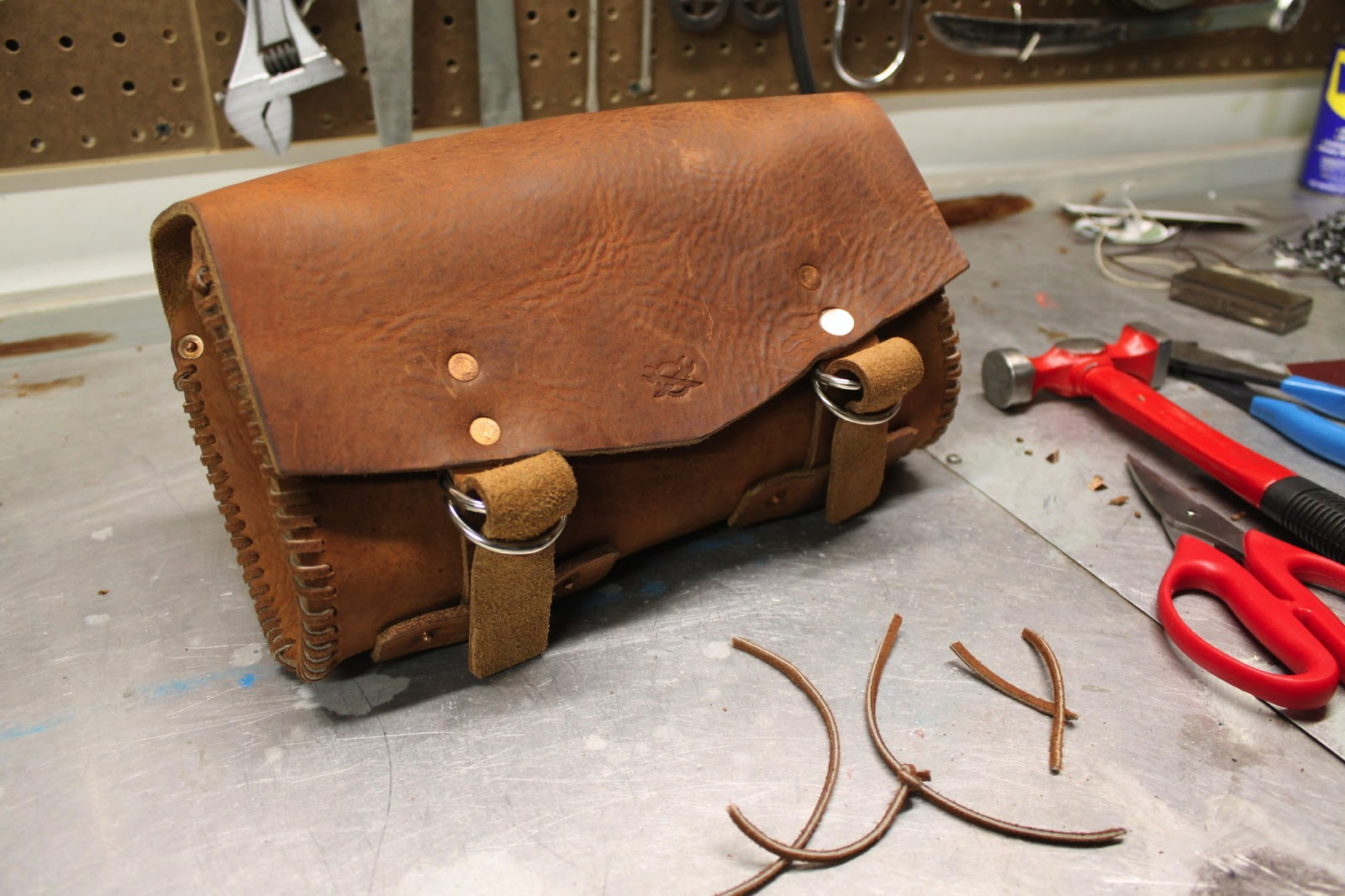 Rusty Knuckles Custom Motorcycle Leather Tool Pouches