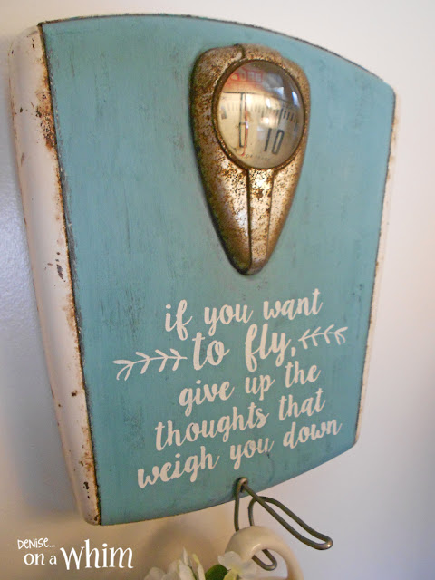 Rusty Vintage Scale Made into a Sign and Wall Hook | Denise on a Whim