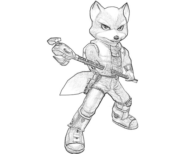 Star Fox Coloring Pages