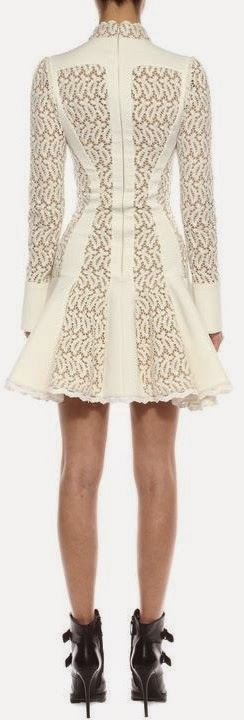 BRODERIE ANGLAISE MINI DRESS Back View