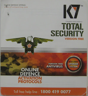 Amazon : Buy K7 Total Security – 1 PC, 1 Year (Voucher) at Rs. 200 only