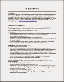 Resume For Pc Technician - Clasifiedad .Com