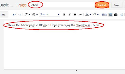 Publish a page in Blogger