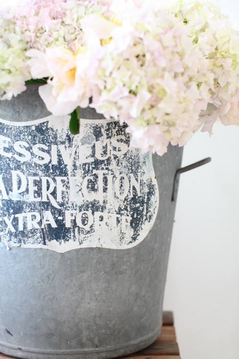 Dreamy Whites Hydrangeas Peonies And A French Zinc Bucket