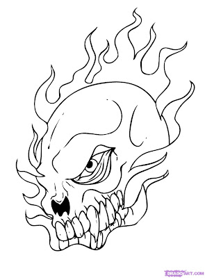 Skull Draw Cool Things