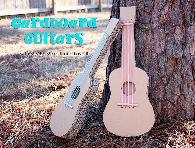 The 'MISTER Make It and Love It' Series: Cardboard Guitars by Make it & Love it