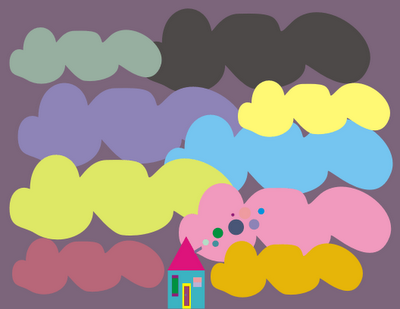 nuvem de tags colorida