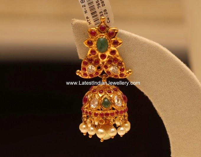 Latest Ruby Jhumka Design
