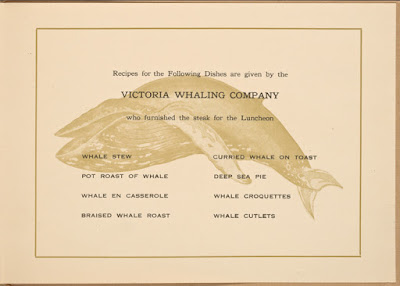 Last page for Whale Steak Luncheon, from Buttolph Collection at NYPL