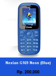 Daftar HP Murah Nexian G169 Neon (blue) - wedhanguwuh.com