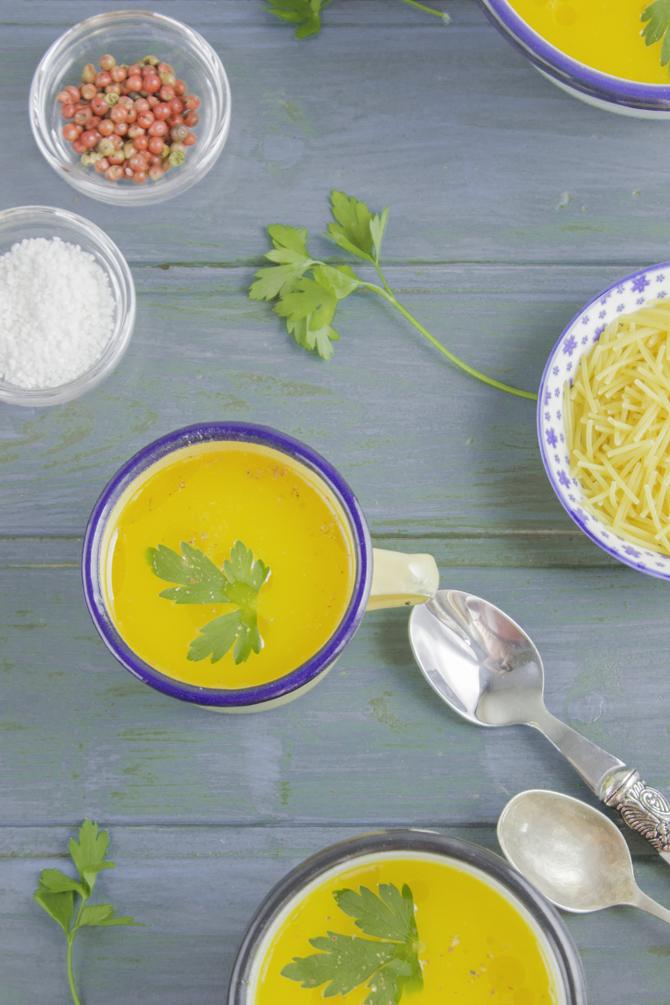 sopa básica de verduras