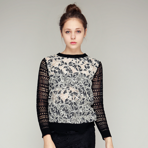 Floral Lace Long Sleeved Top