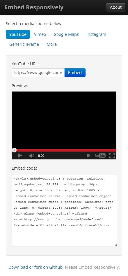 YouTube Embed Responsive Code
