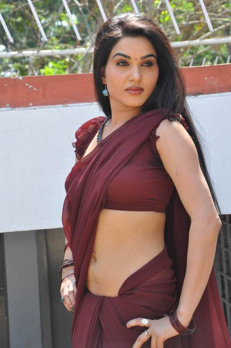 Shikha Singh In Saree Kavya singh hot saree stills