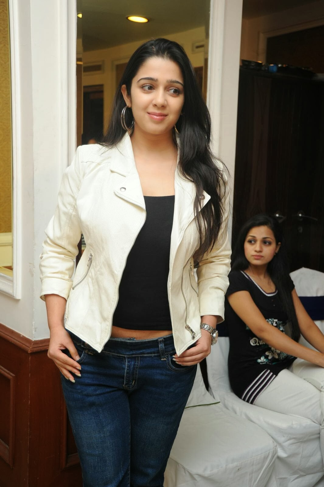 Actress Charmi Kaur Pictures in Jeans at One by Two Movie Celetes 20 Years Event  0136.jpg
